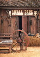 Wholesale barn doors for sale - 5x7ft Vintage Small Barn Rustic Backdrop Photography Wooden Door Mow Western Cowboys Children Kids Outdoor Photo Background for Studio