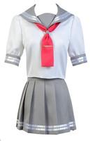 Wholesale love live cosplay for sale - Malidaike Love Live Sunshine Aqours Takami Chika Cosplay Costume Suit Dress Uniform Sailor Clothes