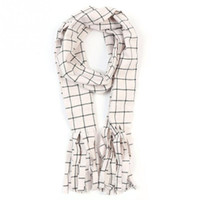 Wholesale natsu costume for sale - Fairy Tail Scarf Natsu Dragneel Scarf White Black Plaid Cosplay Costume Scarf Unsix