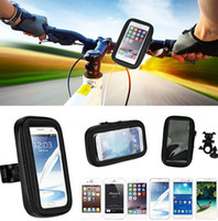 Wholesale moto phone holder online - Touch Screen Waterproof Bicycle Bike Mobile Phone Cases Bags Holders Stands For Motorola Moto X Style X Play X Force Droid Turbo OPPO R11