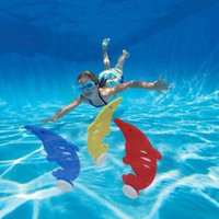 Wholesale kids diving toys for sale - Parenting Interaction Leisure Toys Kids Pool Play Outdoor Sport Dive Diving Grab Stick Motion Divings Lovely Dolphin Modelling sx J1