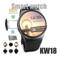 Wholesale dz09 smart watch for sale - KW18 Smart Watch Bluetooth Heart Rate Monitor Intelligent smartWatch Support SIM TF Card for ios and andriod Phone GT08 DZ09 A1