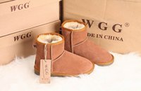 Wholesale tall high woman boots for sale - High Quality new Women s Classic tall WGG style snow boots Winter boots Warm With box certificate dust bag