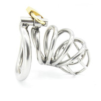 Wholesale bdsm male toy for sale - Stainless Steel Male Chastity device Adult Cock Cage With arc shaped Cock Ring BDSM Sex Toy Bondage Men Chastity Belt