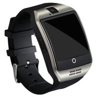 Wholesale q18 smart watch for sale - Q18 Smart Watch Bluetooth Smart watches For Android Phone with Camera Q18 Support TF Card NFC Connection with Retail Package DHL