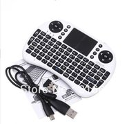 Wholesale free handheld tv for sale - Rii GHz Handheld Wireless Keyboard and Fly Air Mouse Touchpad Multimedia for Google TV BOX MID XBOX360 PS3 HTPC