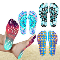 Wholesale thermal soles for sale - 2017 Beach Invisible Anti Slip Insoles Starry Emoji Smile Mandala Nakefit Thermal Insulation Waterproof Soles Stick On Feet Pads Socks