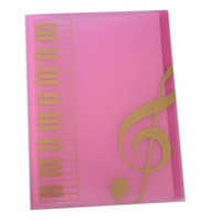 Wholesale file folder sizes online - Hot Selling Pockets Music Sheet File Folder Music Sheet Holder Plastic A4 Size Pockets Pink