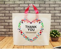 Wholesale shopping bag for clothings gift package simple design size option PE Plastic hand bag clothing shopping package bag piece