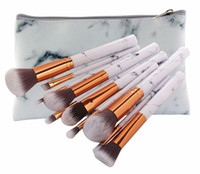 Wholesale white nylon bags wholesale for sale - MAANGE Set Marbling Makeup Brushes Kit Marble Pattern with PU Brush Bag Powder Contour Eye Shadow Beauty Make Up Brush Cosmetic Tools