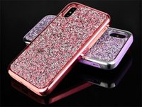 Wholesale glitter case online - Hot Sale Premium bling in Luxury diamond rhinestone glitter back cover phone case For iPhone X s plus Samsung s8 note cases