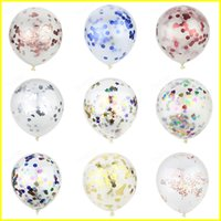 Wholesale kids toys for sale - Colorful inch Confetti Balloons Clear Latex Balloon for Wedding Decoration Happy Birthday Baby Shower Party Supplies for kids toys