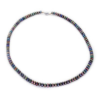 Wholesale beaded necklaces online - 2018 Fashionable freshwater pearl jewelry natural freshwater black pearl magnet buckle necklace feminine charm jewelry