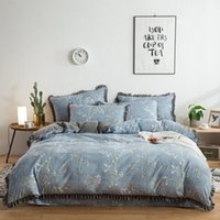 Wholesale beautiful king size bedding for sale - Beautiful flower pattern bedding set cotton pillowcase duvet cover bed sheet twin full queen king size long term supply