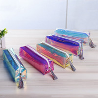 Wholesale Transparent Laser Pencil Case Cute Stationery Tassels Pencil Bag Cosmetic Makeup Bag for Women with Tassels Zipper for School Office Travel