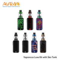 Wholesale vaporesso online - Vaporesso Luxe Kit With W Luxe MOD Mod Touch Screen Display ml SKRR Tank New SK CCELL Coil Authentic