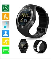 Wholesale y1 smart watch online - Y1 Smart Watch Support Nano SIM Card and TF Card Smartwatch PK Q18 M26 GT08 U8 Wearable Smart Electronics Stock For iOS Android