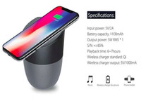 Wholesale wireless charger online - Wireless Charger With Bluetooth Speaker Qi enabled Fast Charging For Cell Phone Stereo Music Portable Subwoofers With Retail Package