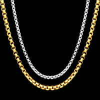 Wholesale women's rhinestone choker online - 18K Gold Plated Box chains And Sterling silver Choker Necklaces For Women Men s Fashion Jewelry inches