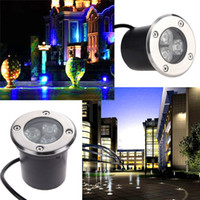 Wholesale 3W LED underground light lamps outdoor buried recessed floor lamp Waterproof IP67 Landscape stair lighting V AC
