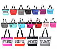 Wholesale shopping bags for sale - Pink Letter Handbags Women girls youth Shoulder Bags love Pink waterproof girls shopping bag handbag secret Travel Duffle Bags Beach Bag hot