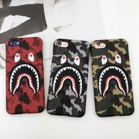 Wholesale NEW Hot Fashion Cool High Quality Shark Case For iPhone8 plus s Plus Shark Army Phone Case Cover For iPhoneX