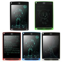 Wholesale electronic draw board online - 8 inch Portable LCD Writing Tablet Electronic Notepad Drawing writing Graphics Tablet Board with Stylus Pen CR2020 Battery
