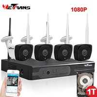 Wholesale night vision home surveillance system online - CCTV System Wireless P HD Outdoor Waterproof m Night Vision Home Security P2P Wifi IP NVR Camera Video Surveillance Kit