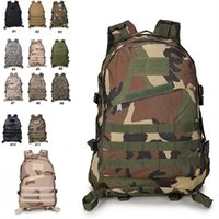 Wholesale military bags online - Backpacks Camo Military Army Double Shoulder Tactical Backbag Waterproof D Tourist Rucksack Climbing Bag Support FBA Drop Shipping G576F