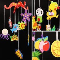 Wholesale whales toys online - DIY Making Material Bag Sea Whale Pendant Originality Learning Education Wind Chime Baby Intelligence Developmental Toy bq W