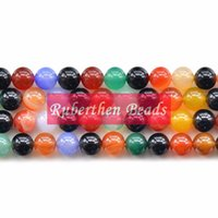 Wholesale NB0017 High Quantity Natural Mix Color Agate Beads DIY Jewelry Accessory Trendy Loose Stone Round Beads for Make Jewelry