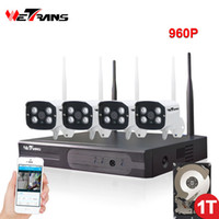 Wholesale night vision home surveillance system online - Wireless CCTV System Wifi CH P HD m IR Night Vision IP Security Camera System Outdoor Waterproof P2P Home Surveillance