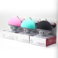 Wholesale In stock Mushroom mobile phone mini speakers with suction any logo color and packing available Welcome to order