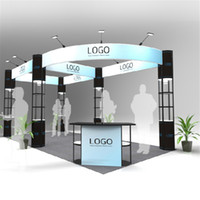 Wholesale Standard ft ft Portable Trade Show Modular Booth Outdoor Modular Exhibition Booth Construction with Wheeled Wood Case E01B10