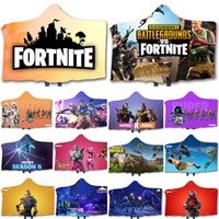 Wholesale Fortnite Cloak Throw Blanket D Printed Fortnite Battle Royale Rainbow Horse Hooded Carpet Kids Adult Winter Plush Cape Towel Warm Shawl