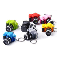 Wholesale wholesale bags old keys online - 1PC Camera Car Key Chains Kids Digital SLR Camera Toy LED Luminous Sound Glowing Pendant Keychain Bag Accessories