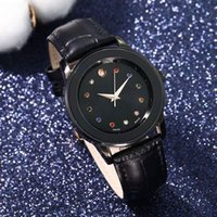Wholesale classic leather band watches online - Luxury brand Mens women lover watches color diamond MOV0912 designer classic black red waistWatches quartz movenment fashion leather band