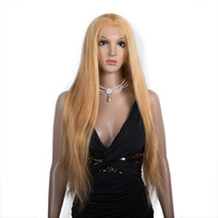 Wholesale real human hair wigs online - Full lace virgin wig human hair no shedding smooth soft unprocessed real remy long blonde kinky straight