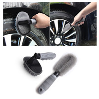 Wholesale brush clean car wheels for sale - Car Wheel Cleaning Kit Tire Rim Brush Hub Brush Set Anti slip Handle Soft Wire Scrub For Car Motorcycle Bike Wheel Cleaning