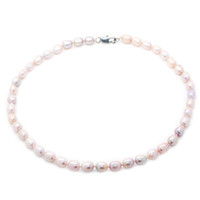 Wholesale beaded necklaces online - the latest fashion jewelry design mm natural freshwater elliptical pearl necklace for mother s surprise gift