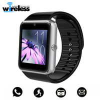 Wholesale gt08 smart watches for sale - High quality battery GT08 Bluetooth Smart Watch with SIM Card Health Watchs for Android Samsung iphone Smartphones Bracelet Smartwatch