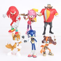 Wholesale sonic toys figures for sale - 6pcs set cm Sonic the Hedgehog Boom Rare Dr Eggman Shadow action Figures Toy pvc toy Sonic Shadow Tails Characters figure toy B
