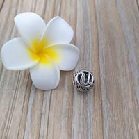 Wholesale u music for sale - U TO Z LETTERS Sterling Silver Beads Vintage Charm Fits European Pandora Style Jewelry Bracelets Necklace CZ