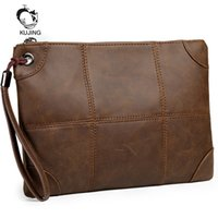 Wholesale cheap quality computers online - KUJING Brand Briefcase High Quality Men s Business Handbag Hot Mobile Phone Change Envelope Bag Cheap Travel Casual Hand Men Bag