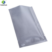 Wholesale fast food packages for sale - Fast shipping x10cm x4 quot Tear Notch Heat sealing silver aluminum foil Mylar Vacuum Package open top packing bags