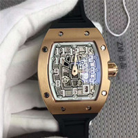Wholesale fashion men s watch luxury online - New Fashion Men s watch Automatic core Rubber band Stainless Steel case Mineral glass mirror Pin buckle