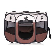 Wholesale pet playpens online - YVYOO Portable Folding Pet tent Dog House Cage Dog Cat Tent Playpen Puppy Kennel Octagonal Fence outdoor Pet products A08