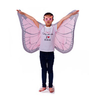 Wholesale pink butterfly costume for sale - Brand new pink butterfly wings monarch cosplay costume animal role cosplay clothing holiday gift for child