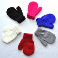 Wholesale children glove winter for sale - 2018 New style Fashion kids gloves Knitting Winter Warm Gloves Children Boys Girls Mittens Unisex Gloves Colors