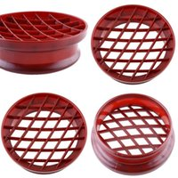 Wholesale print plastics for sale - Cake Mold Pineapple Bun Printing Bread Engraving Kitchen Baking Moulds Tool Circular Plastic Reddish Brown Hot Sale tt V